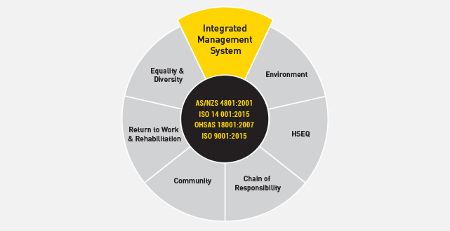 integrated management systems diagram