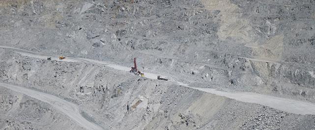 quarry mining site