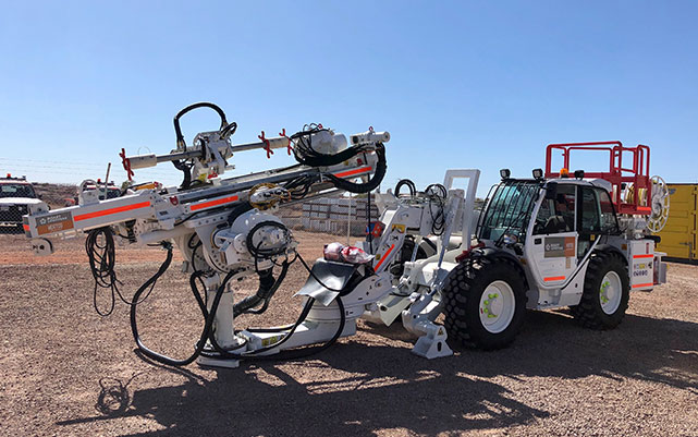 white mining equipment vehicle