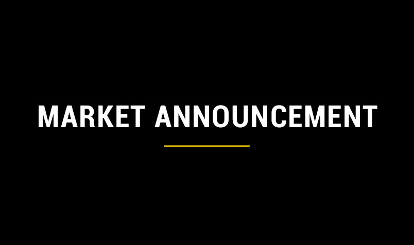 market announcement text